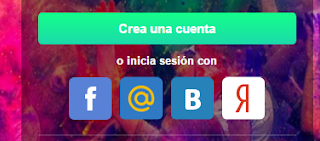Iniciar sesion Flirchi desde Redes sociales