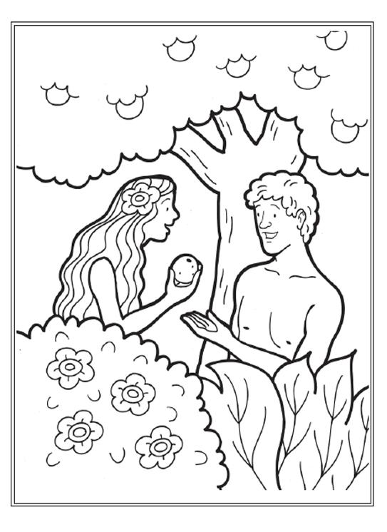 Dibujos para colorear de adan y eva en el paraiso imagui for Adan y eva en el jardin del eden para colorear