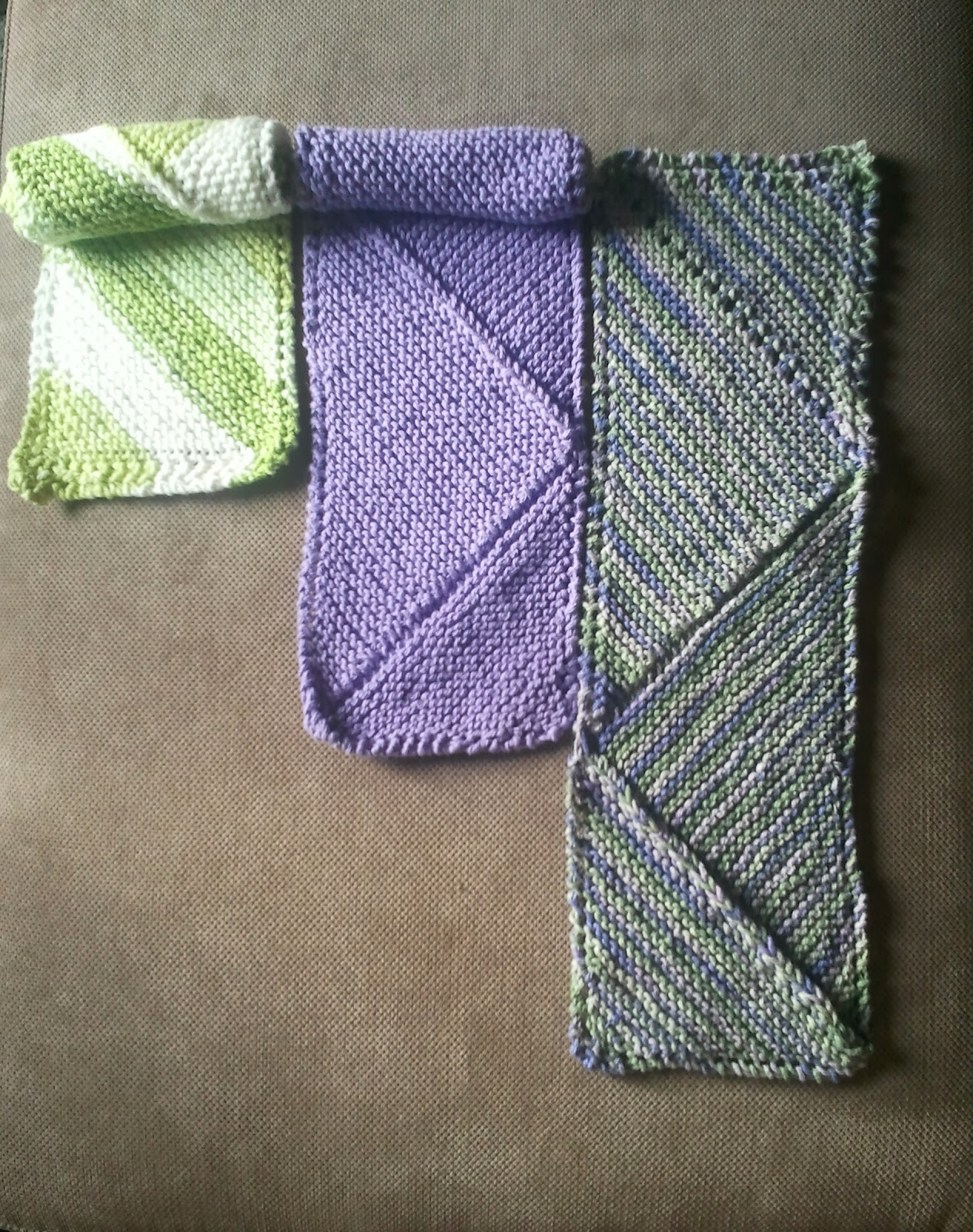 Easy Knit Dish Towel Pattern : Cloud Heights: Misty Modular Dish Towel
