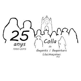 25è Aniversari de la Colla de Gegants de Llucmaçanes.