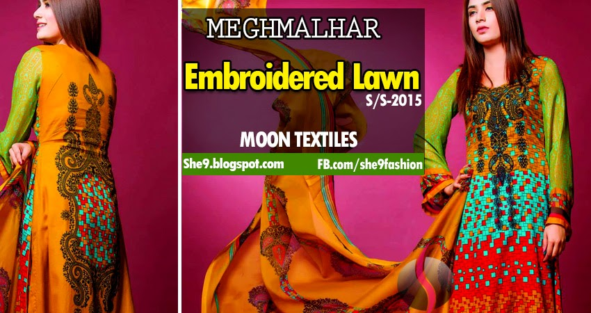 Embroidered Lawn Fashion 2015 in Pakistan