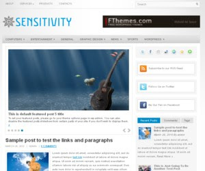 Sensitivity WordPress Theme