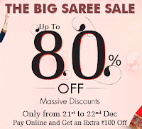 Homeshop18 : The Big saree Sale Offer upto 80% Off: BuyToEarn