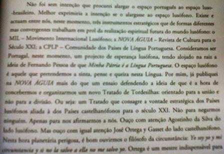 Manuel Ferreira Patrício, sobre o MIL e a NOVA ÁGUIA