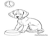 Gambar Anjing Untuk Diwarnai