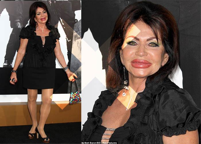 MINHA MÃE QUER SER MOCINHA_Jackie Stallone_Senhora se vestindo de periguete_vulgar_terceira idade_cirurgia plástica_mulheres mais feias do mundo
