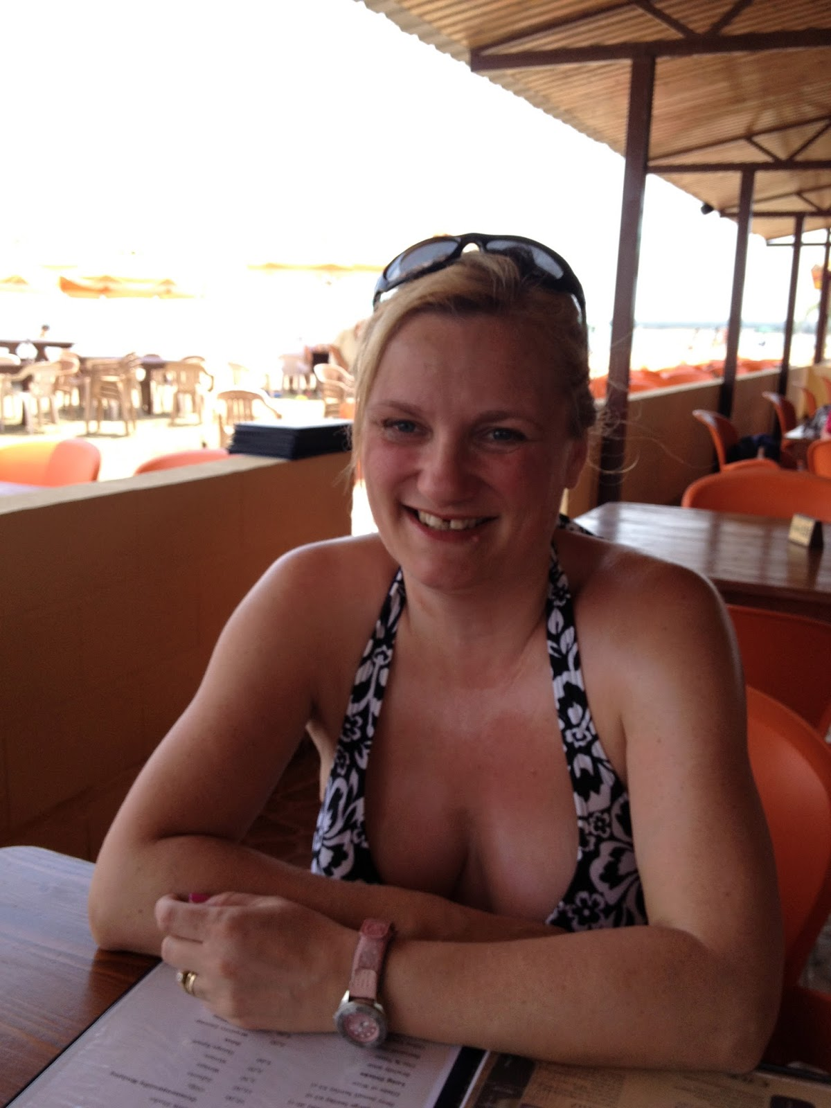madmumof7  at Ladys Mile Beach, Cyprus in bikini