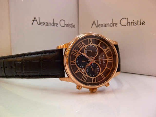 Jam Tangan Alexandre Christie 6310 brown