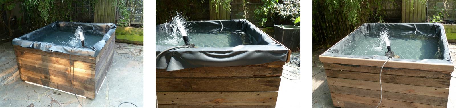 Bricuisir un bassin de terrasse avec du mat riel de for Poisson bassin exterieur achat
