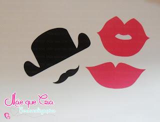 Plaquinhas divertidas mustache