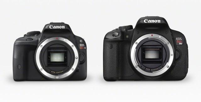 Fotografia della Canon EOS 100 e della Canon EOS 650D
