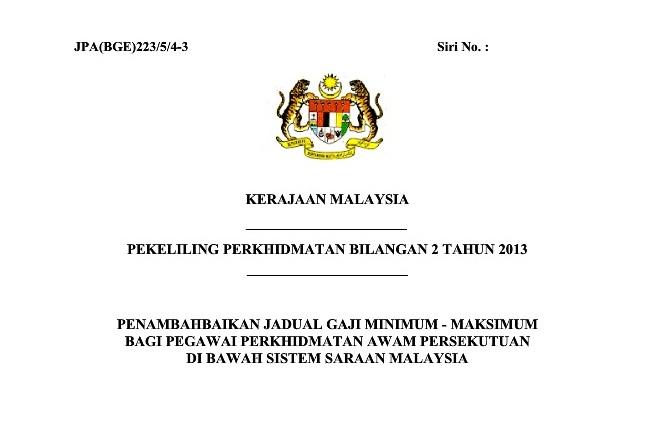 gaji kgt khas kakitangan awam ssm 2013 pekeliling kenaikan gaji kgt