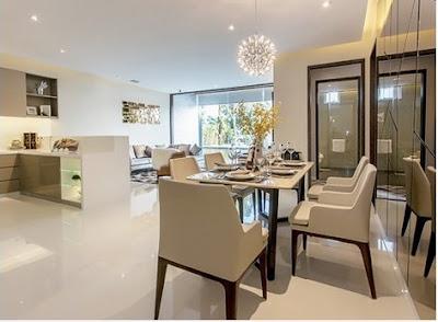 Phòng khách, phòng ăn, bếp liên thông với nhau tạo nên không gian thông thoáng