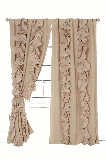 The Cottage In The Country Diy Anthropologie Ruffled Curtains