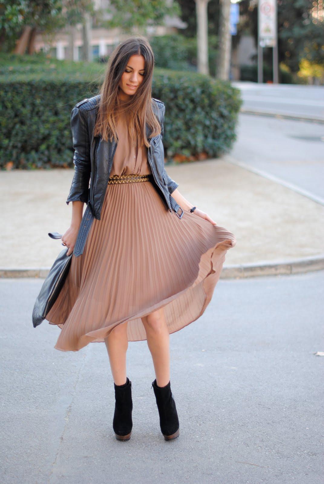 Кожанка с платьем