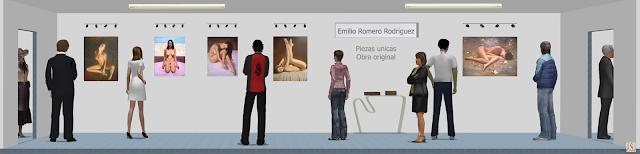 """<img src="""" http://3.bp.blogspot.com/-HmTDn39KWI4/UjLcRzDlMPI/AAAAAAAAKi0/PLnCN8cMaOc/s1600/Obras+de+Emilio+Romero+Rodriguez.png """" alt=""""Sala de exposición virtual de pinturas y retratos de Emilio Romero Rodriguez""""/>"""