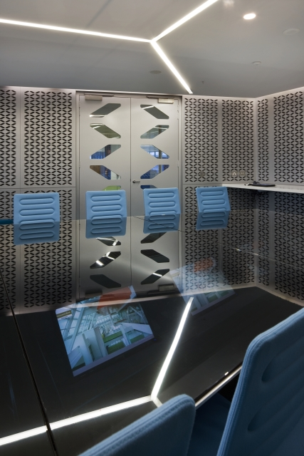 Photo of an office decorated in futuristic style