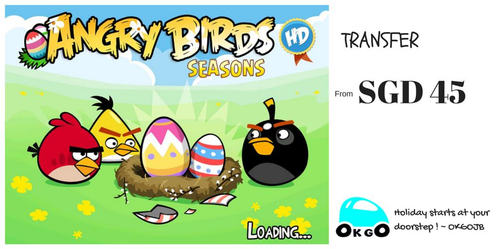 【ANGRY BIRDS SEASON IS COMING!】 復活節 生气鸟季开始!超值交通接送,超低优惠门票 等你来抢!
