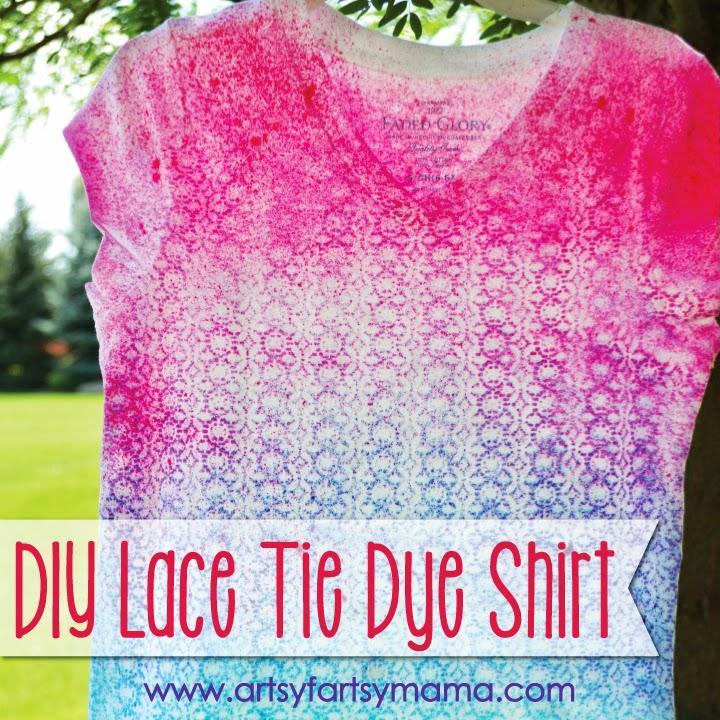 DIY Lace Tie Dye Shirt