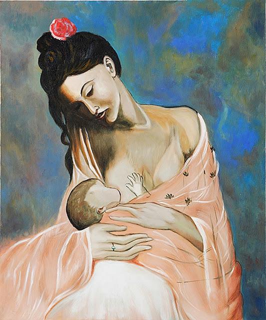 Juguemos a adivinar cuadros. - Página 8 Maternidad%2B-%2BPablo%2BPicasso%2B-%2B1905