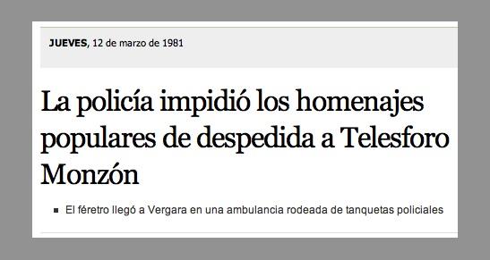 Hiletaren albistea El País egunkariaren arabera