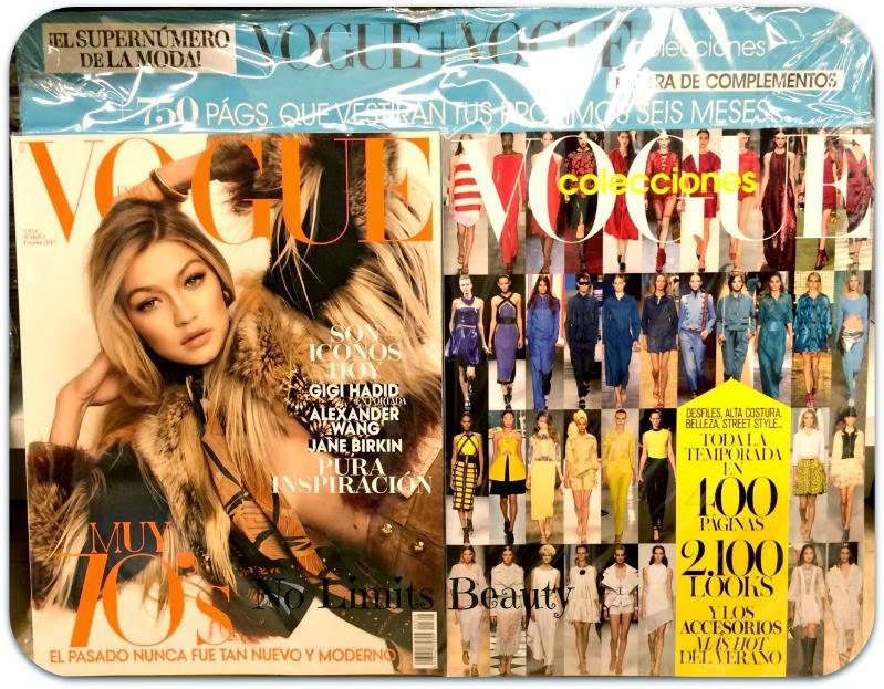 Regalos revistas Marzo 2015: Vogue