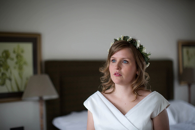 Wedding Photography Doonbeg Ireland, bride in floral crown