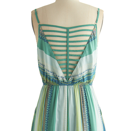 Modcloth maxi dress with caged back