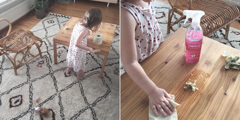 Method siivoussuihke