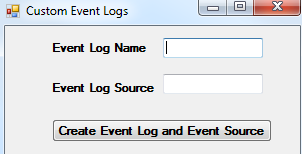 Custom Event Logs in event viewer