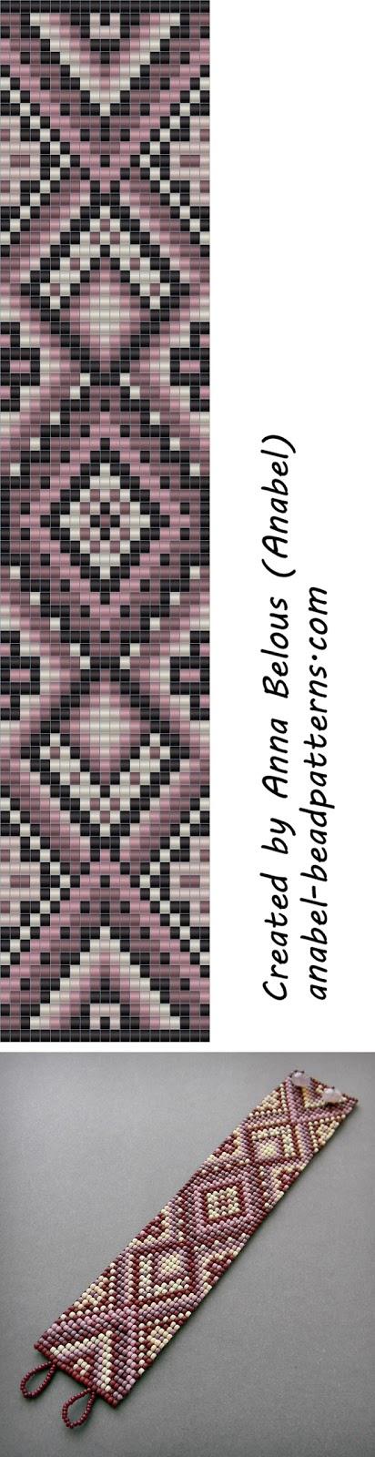 схемы бисероплетения браслет ткачество узоры beaded pattern