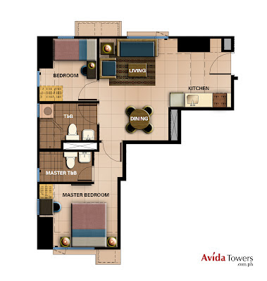 Avida Towers Prime   Taft Two Bedroom Unit Plan