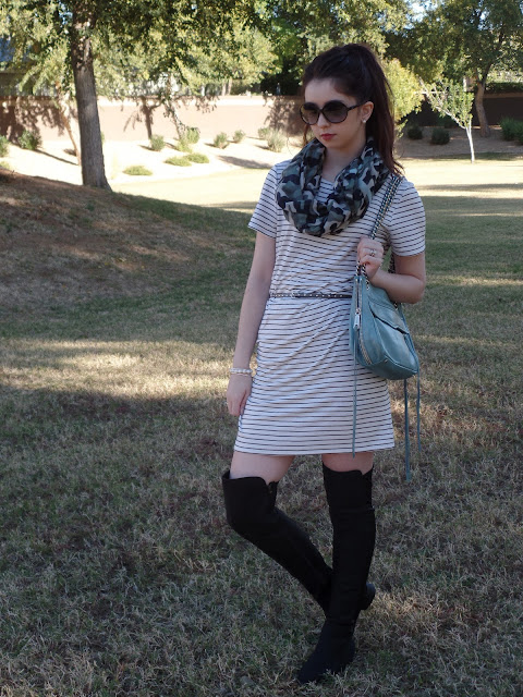 mixed prints spring transition outfit