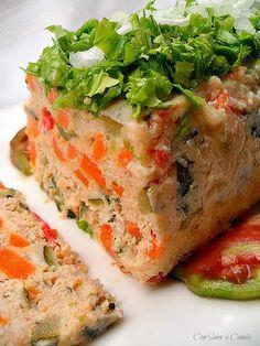 Molde de Gelatina de Carne con Verduras