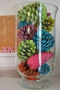 Pinecone centerpiece craft