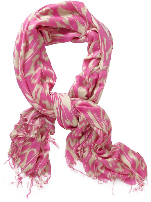 pink ikat scarf pink and cream scarf