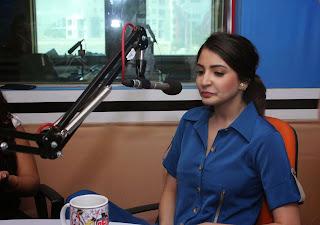 Anushka Sharma Promotes NH10 in Blue Dress at at Red FM ~ Celebs Next