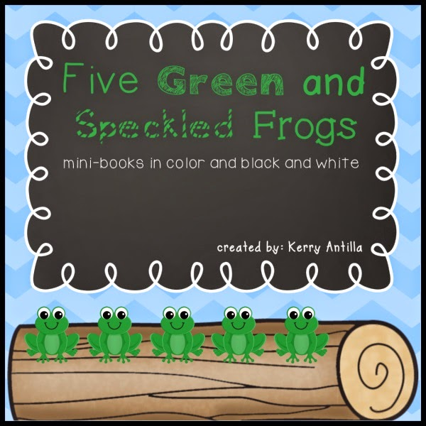 https://www.teacherspayteachers.com/Product/Five-Green-and-Speckled-Frogs-Mini-Books-1355121