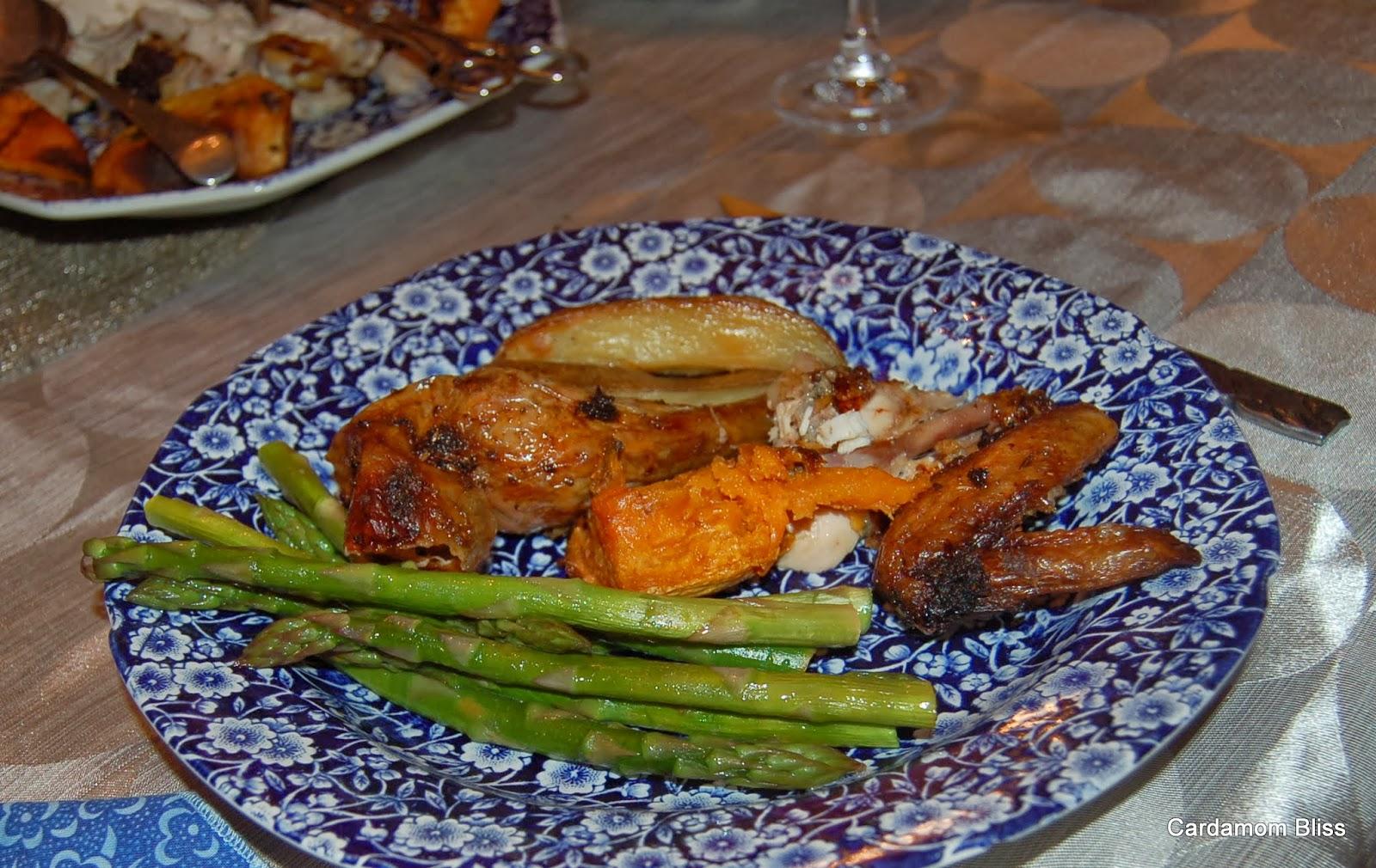 Roast Chicken with Seville Orange and Rosebud Masala