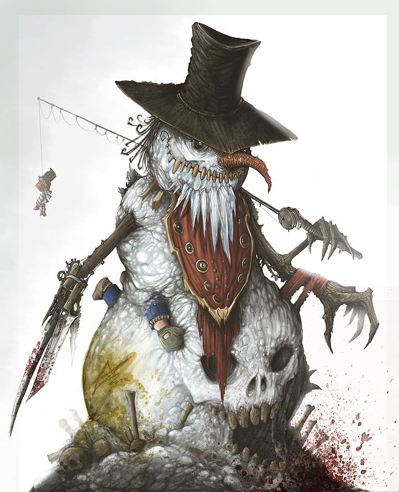 Evil Snowman quot  Artwork by Zyklon8BEvil Snowman Tattoo