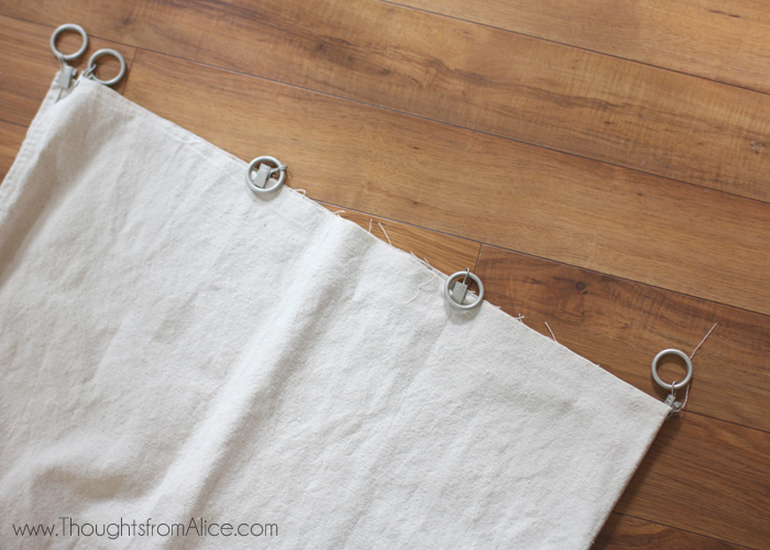 Curtains Ideas curtains made from painters drop cloths : Thoughts from Alice: 5 Minute No Sew Drop Cloth Curtains