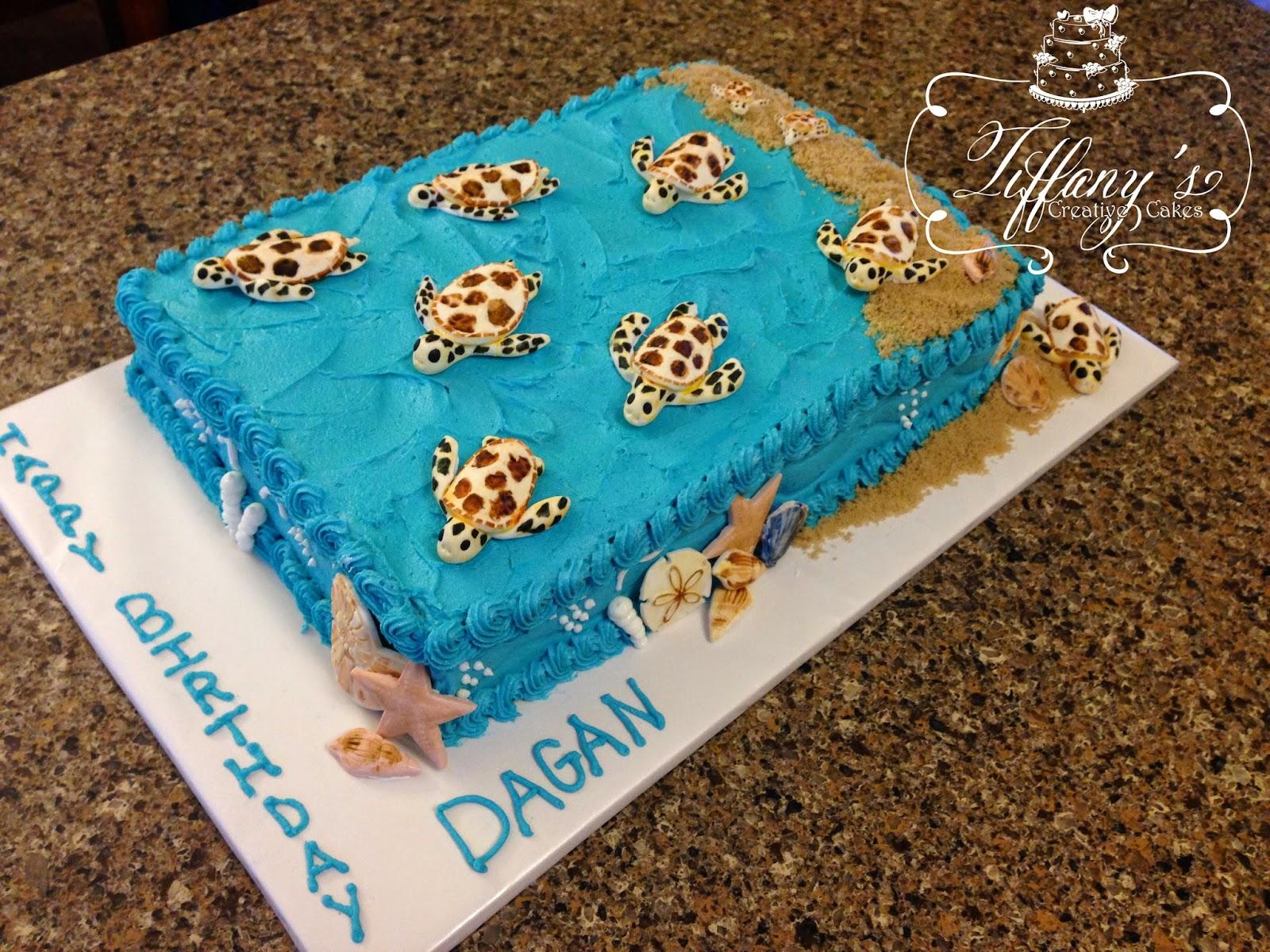 Sea Turtle Birthday Cake Tiffanys Creative Cakes