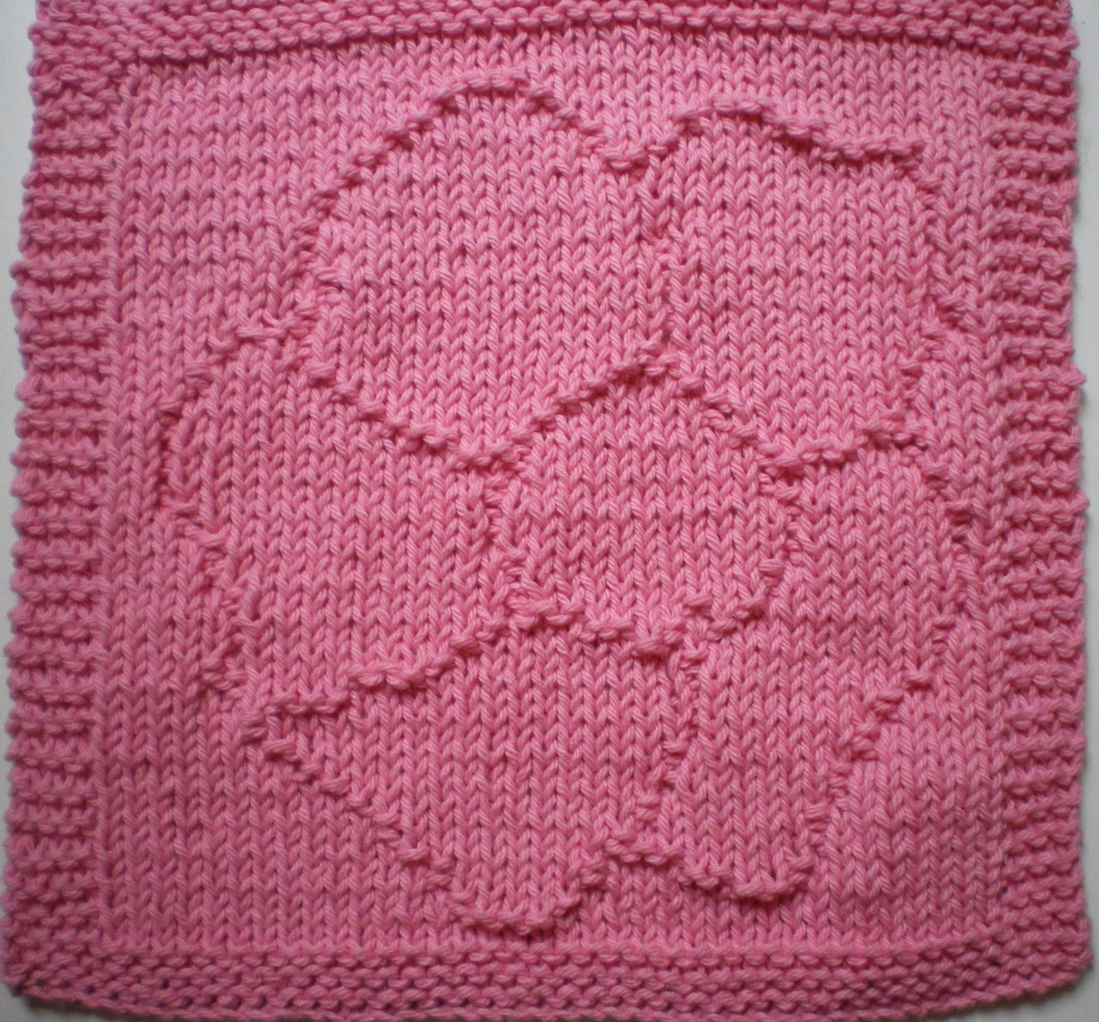 Knitting With Anne: Wild Rose Textured Dishcloth