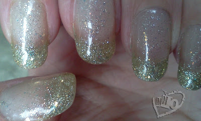 Easy Glitter Gel French Manicure