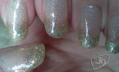 Easy Glitter Gel French Manicure