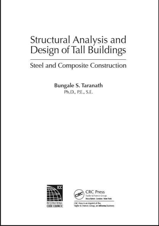 Structural Analysis And Design Of Tall Buildings By Taranath B S Pdf