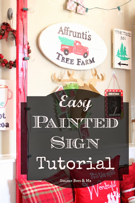 DIY Farmhouse style sign tutorial - www.goldenboysandme.com