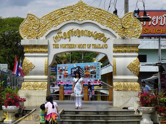 Northernmost marker in Mae Sai, Thailand