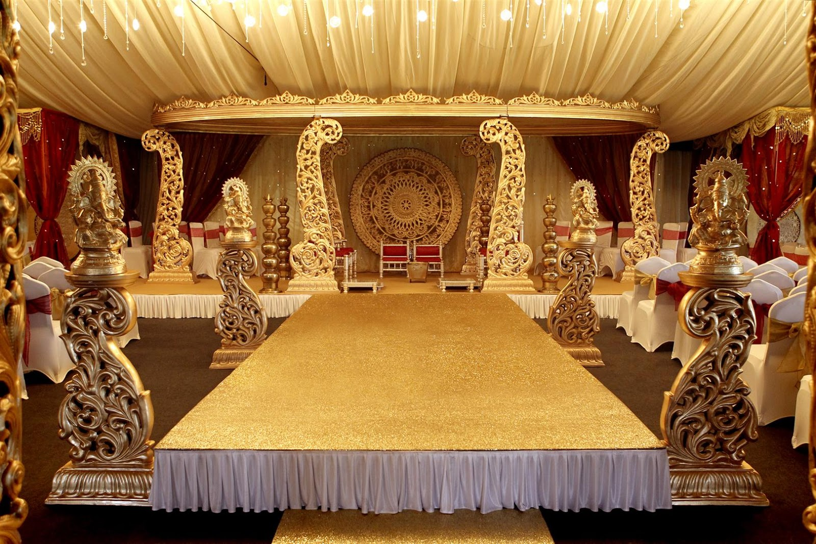 Maz 39 s blog our favourite in asian wedding decorations in for Wedding hall decoration items