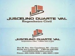 Engenheiro Civil - Juscelino Duarte Val - juscelinoval@yahoo.com.br
